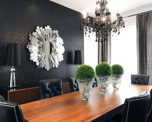Black Wallpaper For Walls black wallpaper | houzz