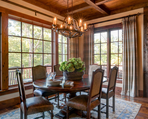 Medium Sized Rustic Dining Room Design Ideas Renovations Photos