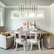 Transitional Dining Room by TerraCotta Properties
