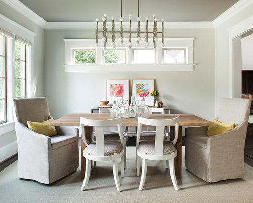 Inspiration For A Mid Sized Transitional Dark Wood Floor Enclosed Dining  Room Remodel In Atlanta