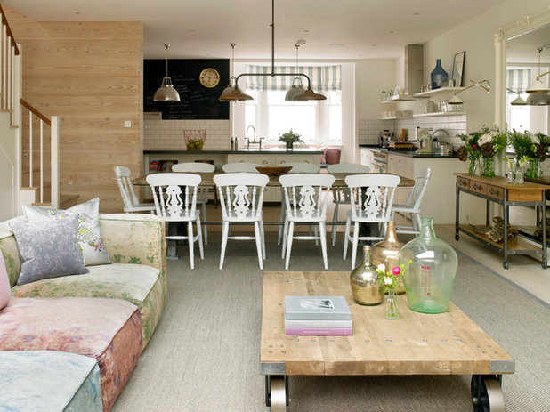 Shabby Chic Style Dining Room by STEPHEN FLETCHER ARCHITECTS. How to Remove Water Marks From Wood Surfaces