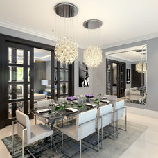 Contemporary Dining Room by CID Interieur