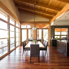 Rustic Dining Room by site lines architecture inc.