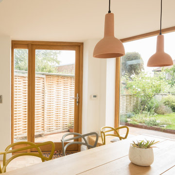 Window Seat, Picture Window and Dining Table, Copper House