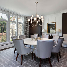 Transitional Dining Room by Highgate Builders