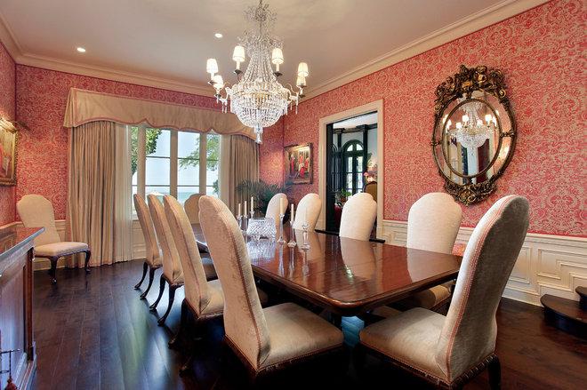 Mediterranean Dining Room by COOK ARCHITECTURAL Design Studio