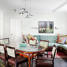Eclectic Dining Room by Alan Design Studio