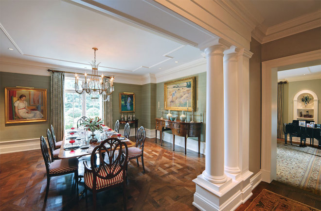 Traditional Dining Room by Florian Architects