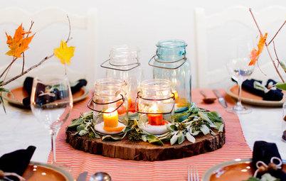 Sublimez votre table d'automne avec des végétaux