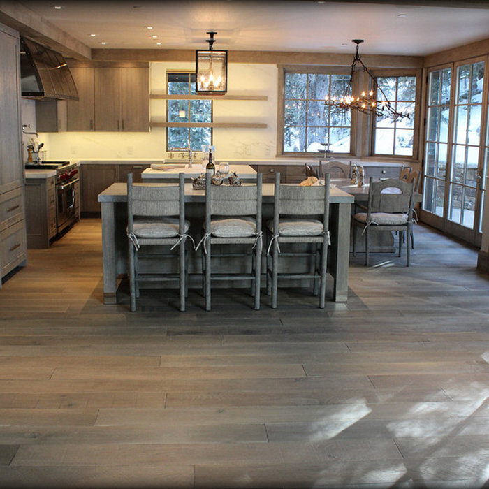 Wire-Brushed Wide Plank Oak