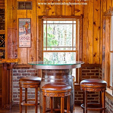 Dining Room by Wisconsin Log Homes Inc