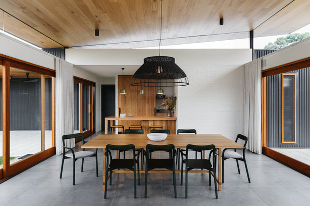 Contemporary Dining Room by Mountford Williamson Architecture