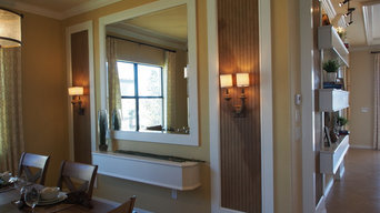 Wood Dining Buffet and Wall Design