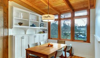 Wood filled kitchen