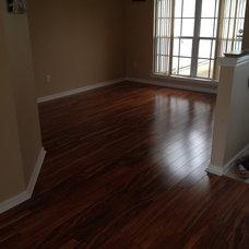 Contemporary Dining Room Wood Laminate Floors