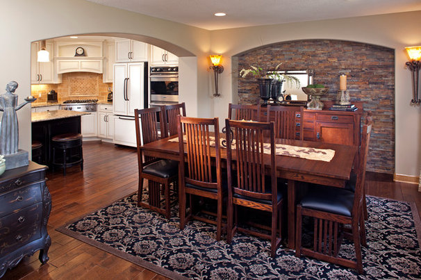 Traditional Dining Room by Michael Lee, Inc