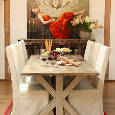 Eclectic Dining Room by Woodland Creek Furniture