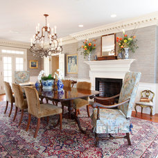 Traditional Dining Room by Deborah Leamann
