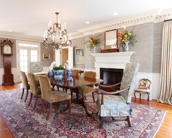 grass cloth wallpaper dining room design ideas, remodels & photos