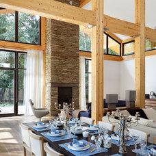 Contemporary Dining Room by Roman Leonidov
