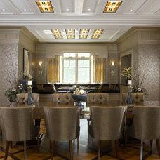 Eclectic Dining Room by Kelsie Hornby, ASID, Elegant Designs, Inc.