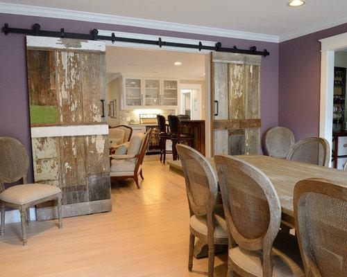 Landhausstil esszimmer mit lila wandfarbe ideen design - Landhausstil wandfarbe ...