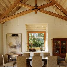 Transitional Dining Room by Charlie Barnett Associates
