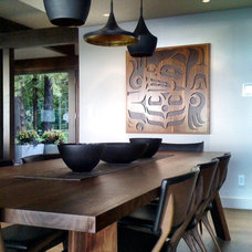 Contemporary Dining Room by Gaile Guevara