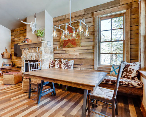 small dining room furniture ideas. Small Mountain Style Dark Wood Floor And Brown Great Room Photo In Denver With Dining Furniture Ideas H