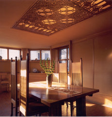 traditional dining room by Frank Lloyd Wright Preservation Trust