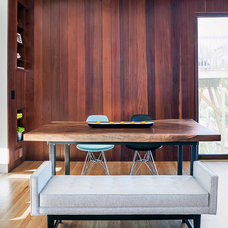 Midcentury Dining Room by Jennifer Weiss Architecture