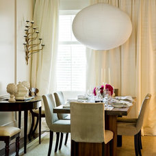 Transitional Dining Room by McGill Design Group Inc.