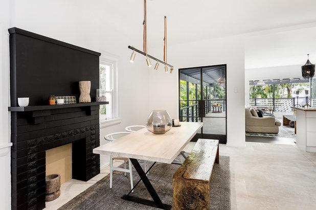 Scandinavian Dining Room by Sydney Beach Homes