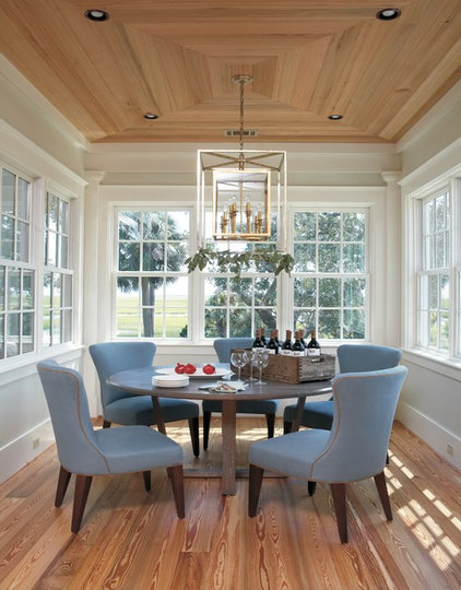 Beach Style Dining Room by Barnard Architects