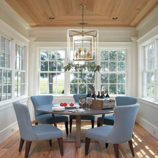 Dining room - beach style medium tone wood floor dining room idea in Atlanta