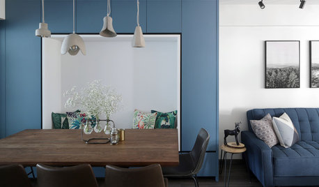 Houzz Tour: Blue and White Give This Flat A New Lease on Life