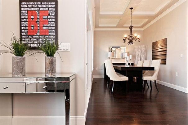 Contemporary Dining Room by Positive Space Staging and Design Inc.