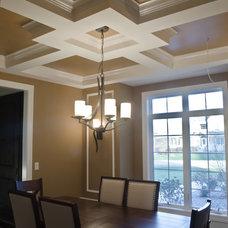 Craftsman Dining Room by Michael Vincent Custom Homes, LLC