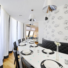 Contemporary Dining Room by Simona Ungurean Homestyling