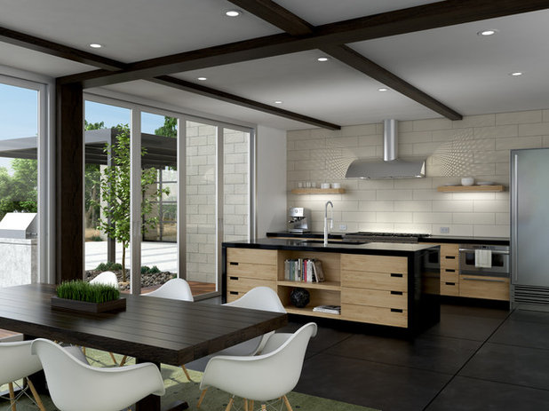 Transitional Dining Room by ZEPHYR