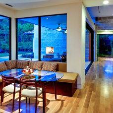 Modern Dining Room by todd hamilton
