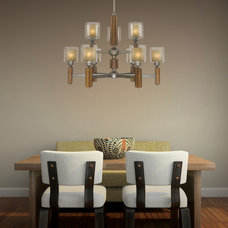 Eclectic Dining Room by 1STOPlighting