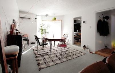 Houzzツアー:リノベーションで手持ちのミッドセンチュリーの家具が似合う家に