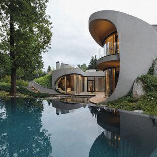 Идея дизайна: дом в стиле фьюжн