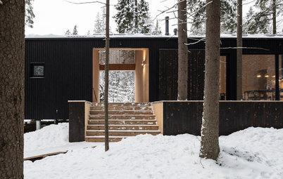 Houzz тур: Дом для двух художников на краю леса