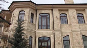 Фасад из армянского травертина CROSS CAT