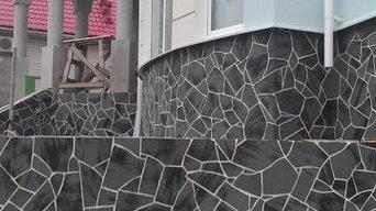 Гибкий камень Делап из натуральной мраморной крошки
