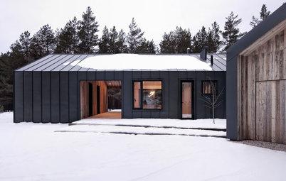 Houzz Латвия: Дом из амбарной доски и стали