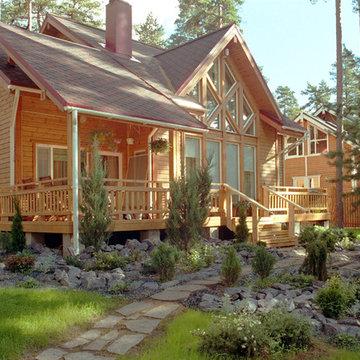 Ландшафтный дизайн частный дом в п.Сосново