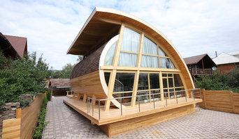 Не обычная архитектура Красноярска - дом на берегу Енисея